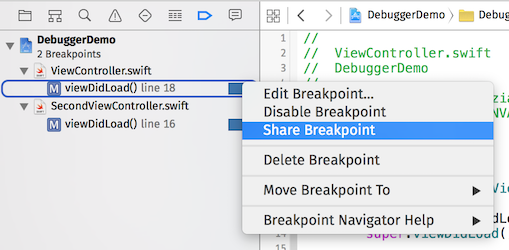 Share breakpoint