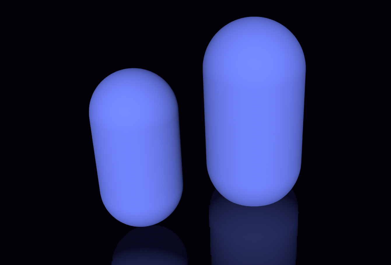 Figure 9. Two capsule with different height and radius.