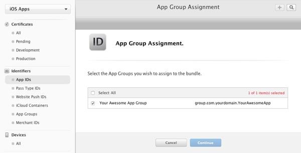App Group Id